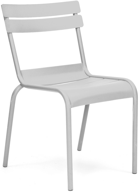 Chatou Grey Stackable Metal Armless Side Chair Set Of 4 LS 2000 GRY DLM