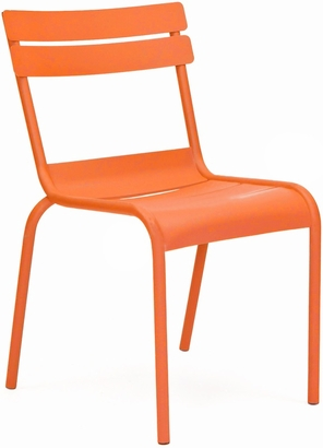 Chatou Orange Stackable Metal Armless Side Chair Set Of 4 LS 2000 ORA DLM