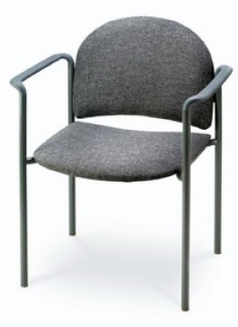 Commercial Seating Crescent Back Contemporary Stack Chair with Arms [2723-MPL]