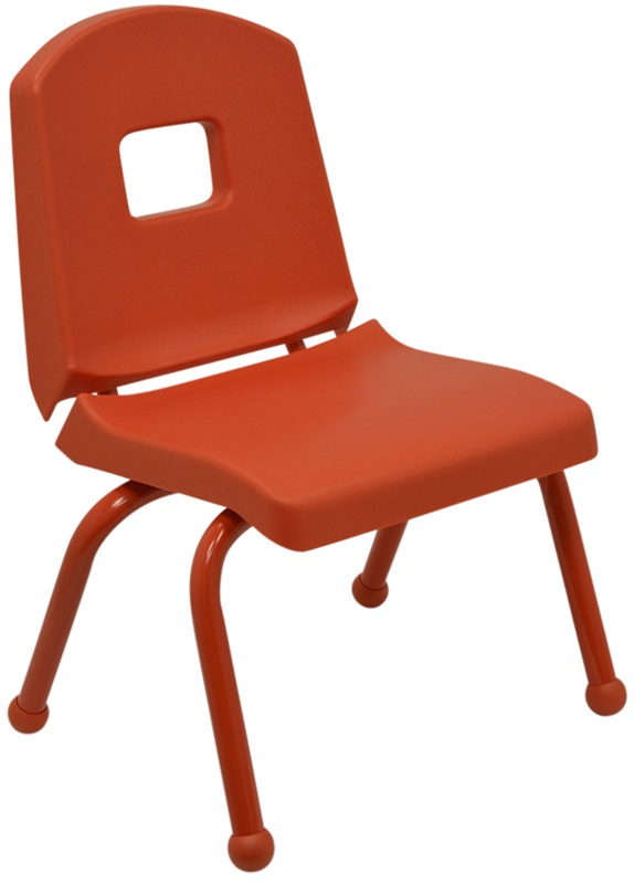 """Split Bucket Stacking Chair with 10''H Seat and Ball Glides - Autumn Orange - 16.75''W x 12.5''D x 22''H <span class=""""product-code"""">[10CHRB-AO-AO-MHR]</span>"""