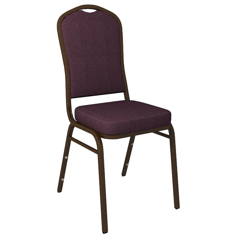 """Embroidered Culp Montgomery Grape Fabric Upholstered Crown Back Banquet Chair - Gold Vein Frame <span class=""""product-code"""">[FD-C01-GV-CULP-MONTGOMERY-GRAPE-EMB-GG]</span>"""