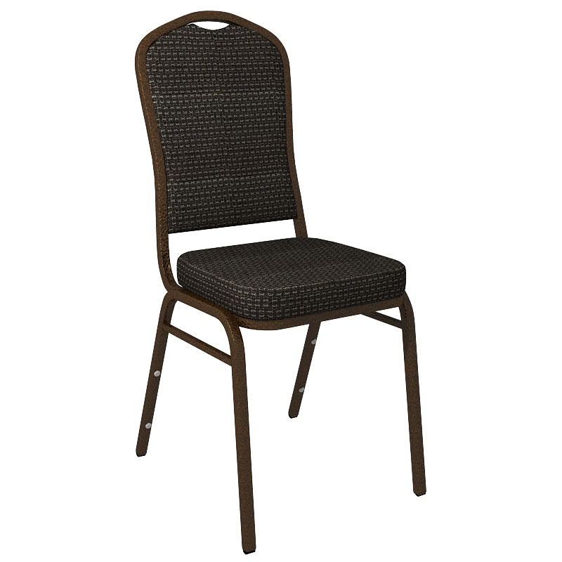 """Embroidered Culp Tea Time Ebony Fabric Upholstered Crown Back Banquet Chair - Gold Vein Frame <span class=""""product-code"""">[FD-C01-GV-CULP-TEATIME-EBONY-EMB-GG]</span>"""