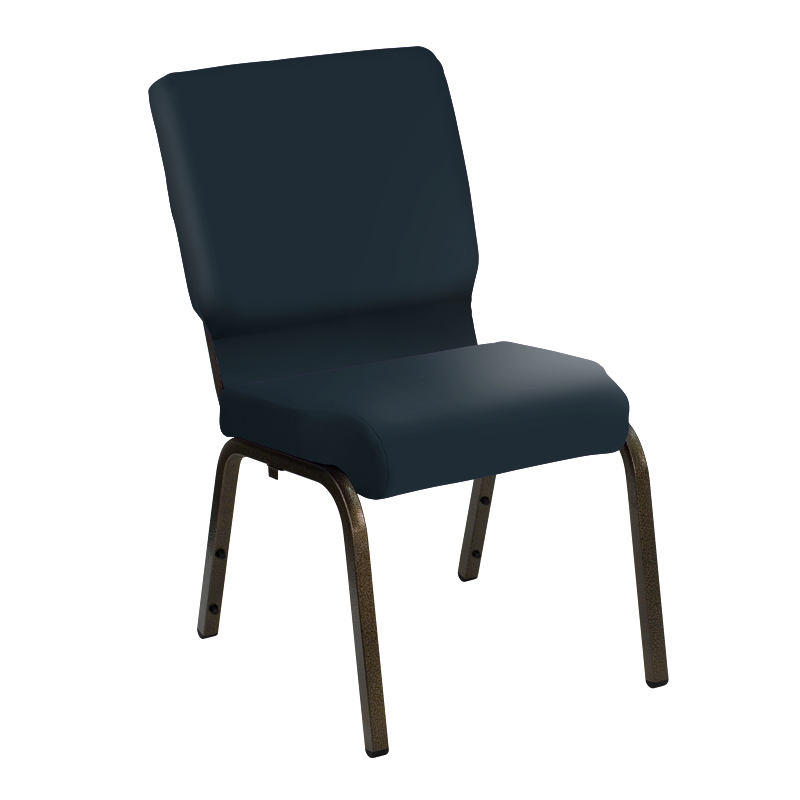 "HERCULES Series 18.5'' Wide E-Z Sierra Royal Vinyl Church Chair with Gold Vein Frame <span class=""product-code"">[NG-CH-185-GV-UNP-5943-ROYAL-GG]</span>"