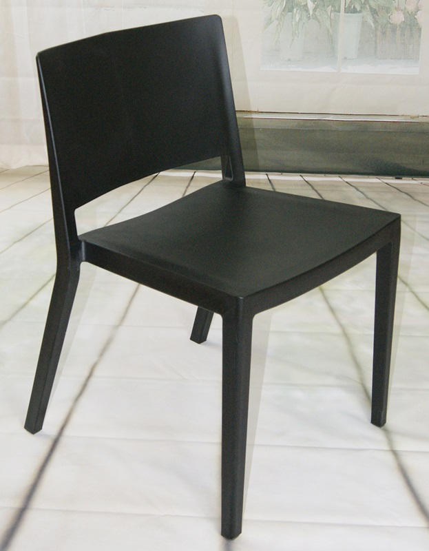 """Elio Stackable Sturdy Black Plastic Chair - Set of 2 <span class=""""product-code"""">[MM-PC-071-BLACK-FS-mdm]</span>"""