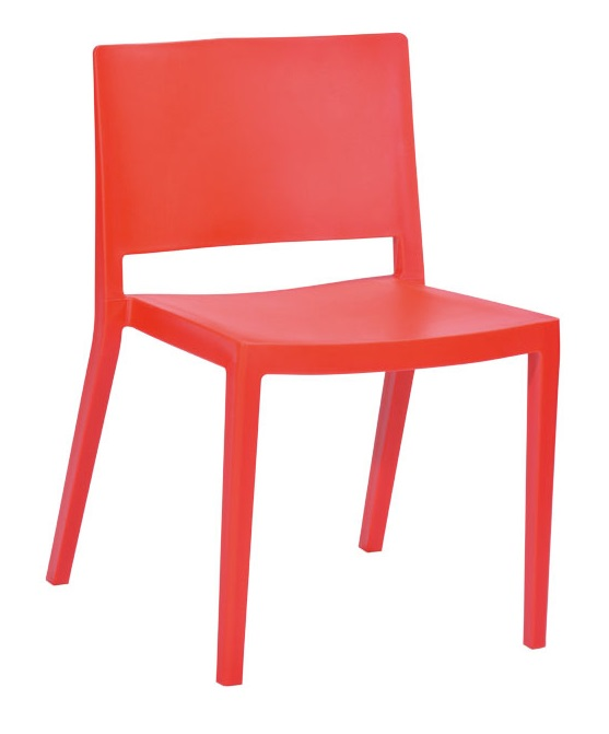 "Elio Stackable Sturdy Red Plastic Chair - Set of 2 <span class=""product-code"">[MM-PC-071-RED-FS-mdm]</span>"