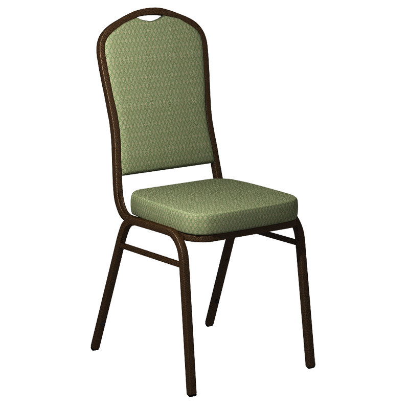 "Embroidered Biltmore Alfalfa Fabric Upholstered Crown Back Banquet Chair - Gold Vein Frame <span class=""product-code"">[FD-C01-GV-BILT-001-EMB-GG]</span>"