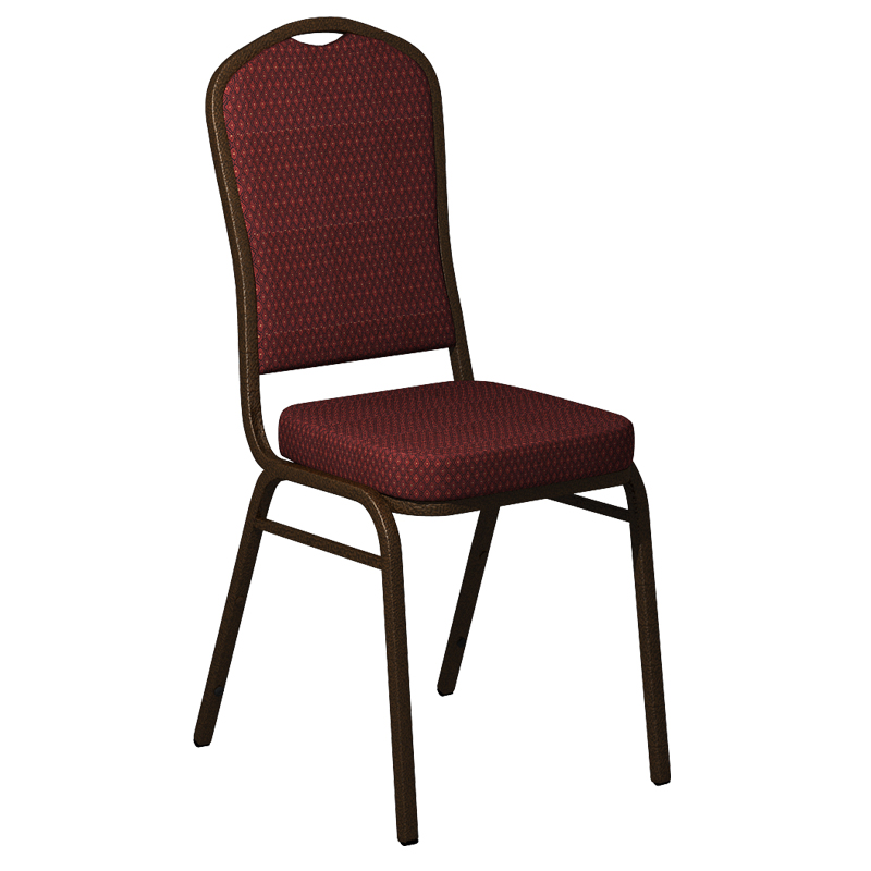 "Embroidered Biltmore Blackbird Fabric Upholstered Crown Back Banquet Chair - Gold Vein Frame <span class=""product-code"">[FD-C01-GV-BILT-004-EMB-GG]</span>"
