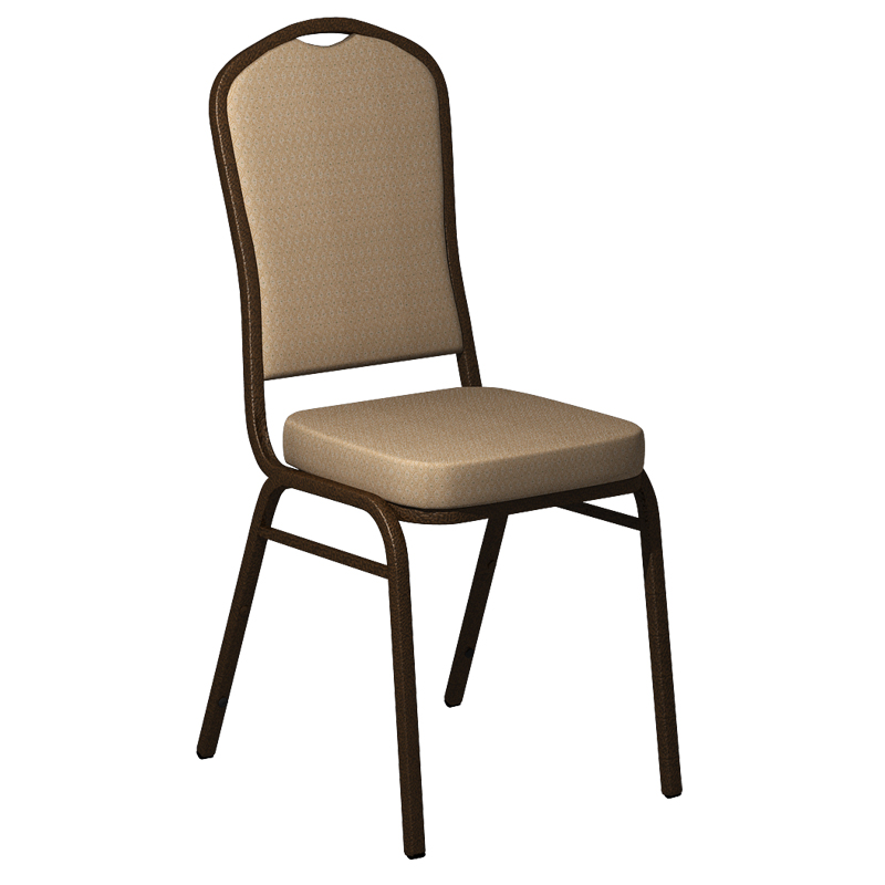 "Embroidered Biltmore Butternut Fabric Upholstered Crown Back Banquet Chair - Gold Vein Frame <span class=""product-code"">[FD-C01-GV-BILT-007-EMB-GG]</span>"