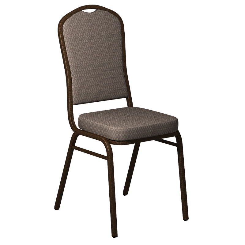 """Embroidered Biltmore Dune Fabric Upholstered Crown Back Banquet Chair - Gold Vein Frame <span class=""""product-code"""">[FD-C01-GV-BILT-009-EMB-GG]</span>"""