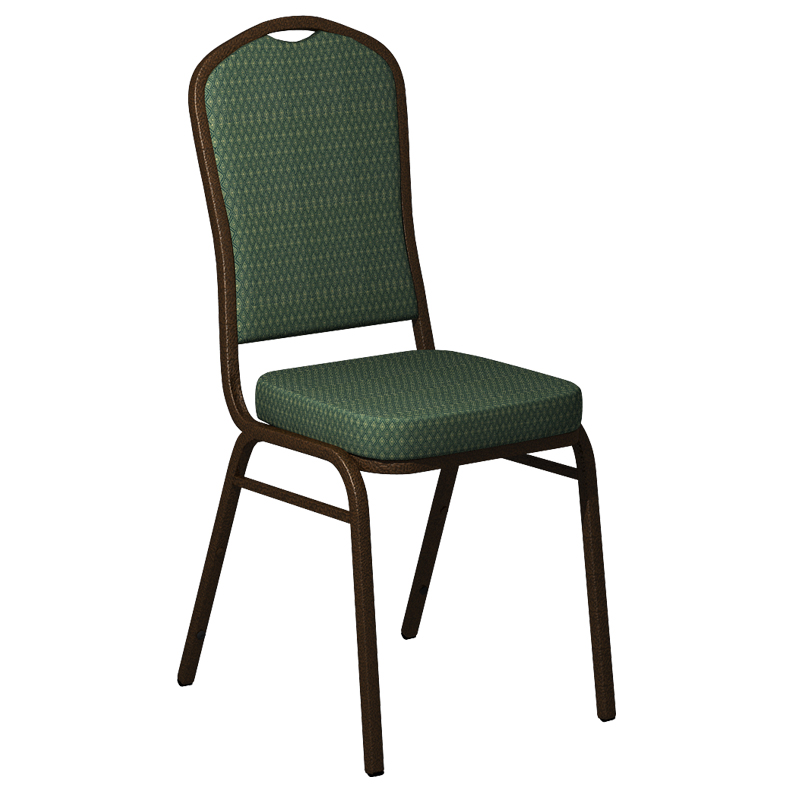 """Embroidered Biltmore Lawn Fabric Upholstered Crown Back Banquet Chair - Gold Vein Frame <span class=""""product-code"""">[FD-C01-GV-BILT-012-EMB-GG]</span>"""