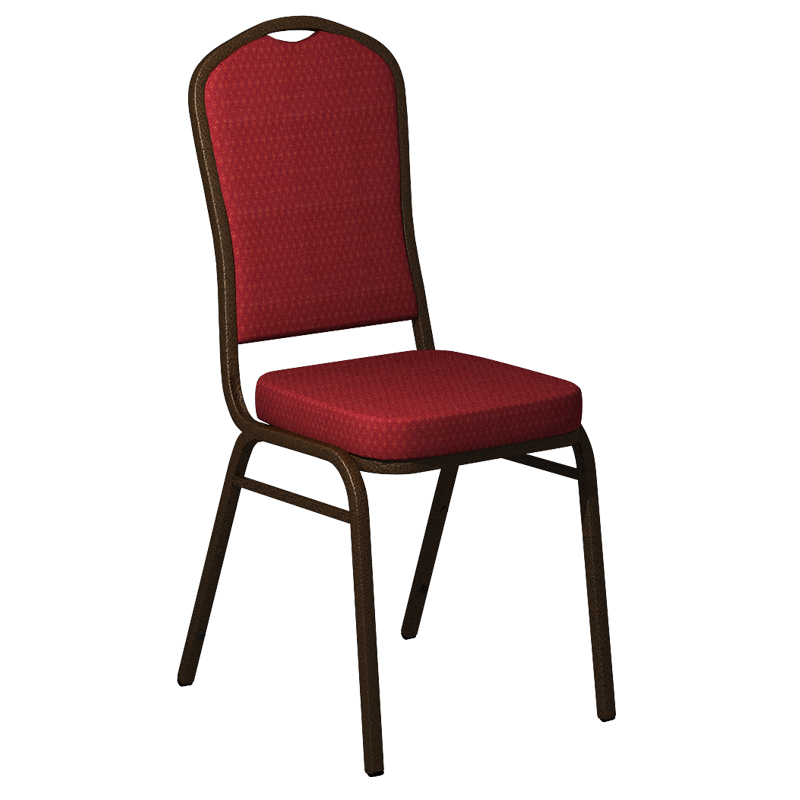 """Embroidered Biltmore Ruby Fabric Upholstered Crown Back Banquet Chair - Gold Vein Frame <span class=""""product-code"""">[FD-C01-GV-BILT-018-EMB-GG]</span>"""