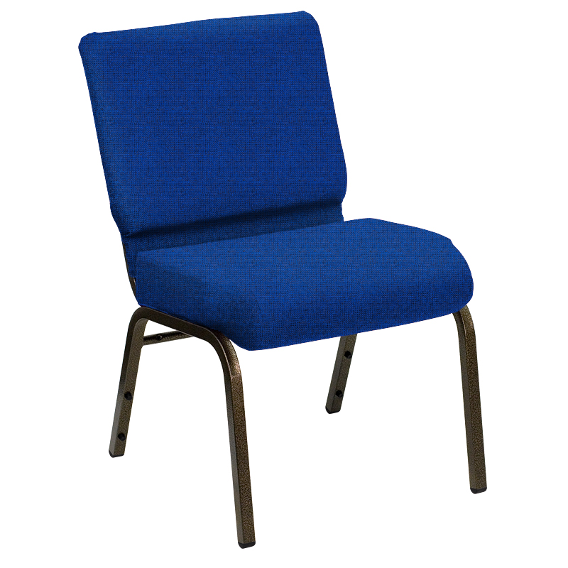 "HERCULES Series 21'' Extra Wide Sherpa Royal Fabric Church Chair with Gold Vein Frame <span class=""product-code"">[FD-CH-21-GV-UNP-SHERPA-034-GG]</span>"