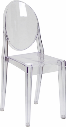 Ghost Side Chair in Transparent Crystal [FH-111-APC-CLR-XX-GG]
