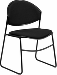 HERCULES Series 550 lb. Capacity Black Padded Stack Chair with Black Frame [RUT-CA02-01-BK-PAD-GG]