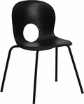 HERCULES Series 770 lb. Capacity Designer Black Plastic Stack Chair with Black Frame [RUT-NC258-BK-GG]