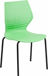 HERCULES Series 770 lb. Capacity Designer Green Stack Chair with Black Frame [RUT-358-GN-GG]
