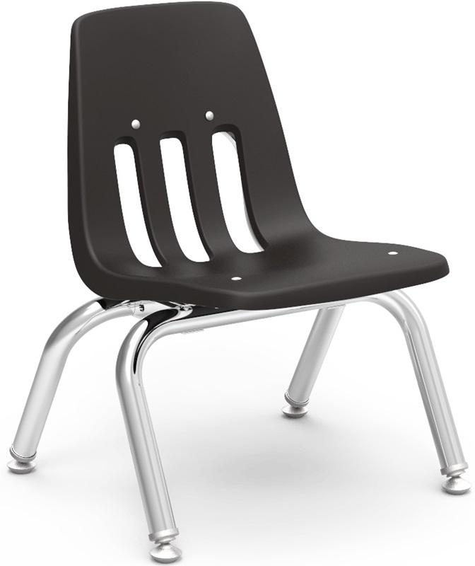 "9000 Classic Series Stack Chair with 10''H Polypropylene Seat - 14.63''W x 15''D x 18.38''H <span class=""product-code"">[9010-vco]</span>"