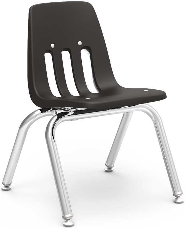 "9000 Classic Series Stack Chair with 12''H Polypropylene Seat - 14.63''W x 15''D x 20.38''H <span class=""product-code"">[9012-vco]</span>"