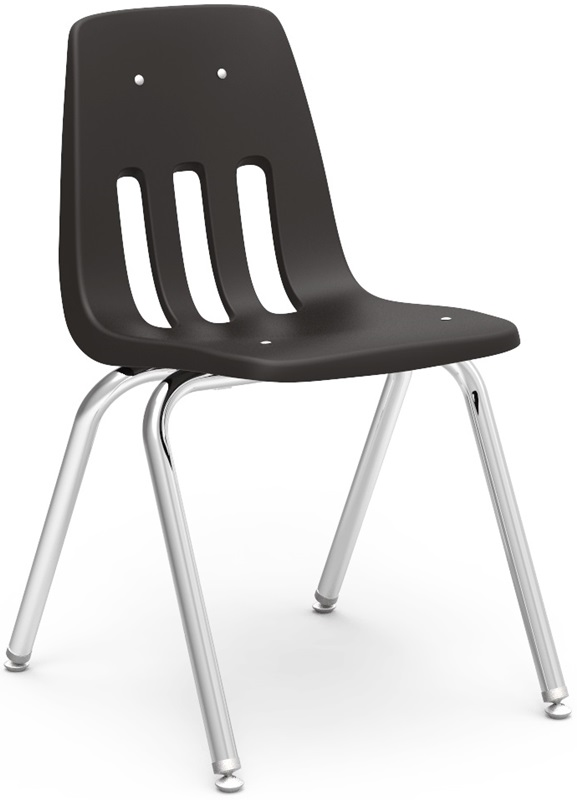 "9000 Classic Series Stack Chair with 18''H Polypropylene Seat - 18.75''W x 21.5''D x 30.63''H <span class=""product-code"">[9018-vco]</span>"