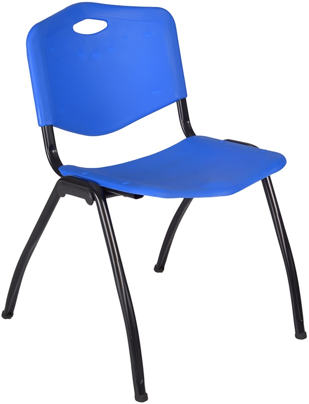 "M'' 30''H Armless Stackable Plastic Chair with Handle - Blue <span class=""product-code"">[4700BE-reg]</span>"