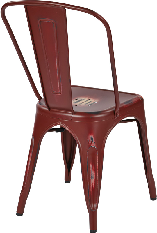 osp designs bristow stackable armless metal chair set of
