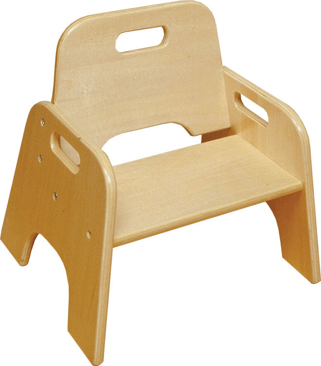 "6''H Ready to Assemble Stackable Wooden Toddler Chair - Natural Finish <span class=""product-code"">[ELR-18005-ecr]</span>"