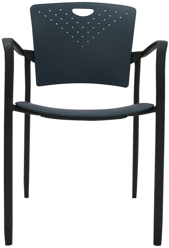 "Staq Chairs 21.6'' W x 22'' D x 30'' H with Glides - Navy <span class=""product-code"">[STAQGLIDNVY-FS-euro]</span>"
