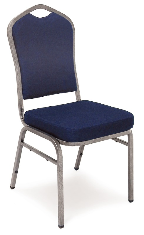 "Superb Seating Heavy-Duty Steel Frame Fabric Upholstered Stacking Chair - Navy Blue <span class=""product-code"">[10335-MCC]</span>"