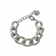 Silver Pave Chain Link