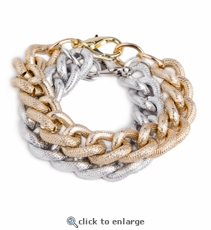 Bricke Gold & Silver Bracelet Set