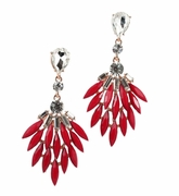 Camille Red Earrings