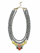 Candied Strand Necklace Grey