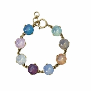 Crystal Gumdrop Bracelet Multi Colors