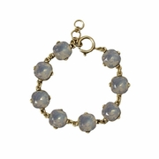 Crystal Gumdrop Bracelet Powder Blue