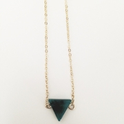 Dark Emerald Point Necklace