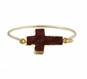 Druzy Cross Marsala