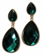 Emerald and Gold Teardrops