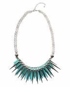 Multi Layer Spike Necklace