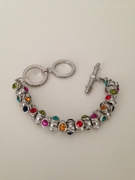 Multicolored Crystal Bracelet