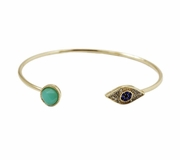 Open Evil Eye Bangle