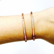 Pave Tube Rose Gold