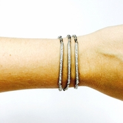 Pave Tube Silver