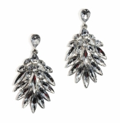 Rae Silver Crystal Earrings