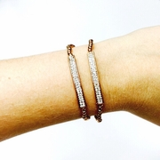Rose Gold Bar Bracelet Set