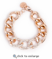 Rose Gold Pave Chain Link