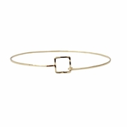 Skinny Square Stackable Bracelet Gold