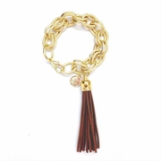 Tassel Bracelet XL Chocolate