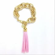 Tassel Bracelet XL Light Pink