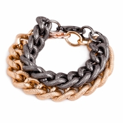 The Bricke Gunmetal Rose Gold Bracelet