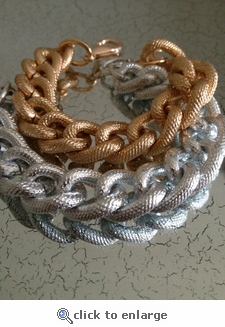 The Bricke Mixed Metals Silver Rose Gold